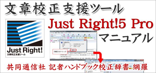 文章校正支援ツール Just Right!5 Pro
